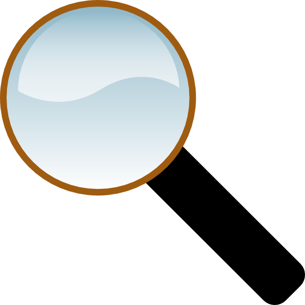 600x601 Magnifing Glass Clip Art Free Vector 4vector