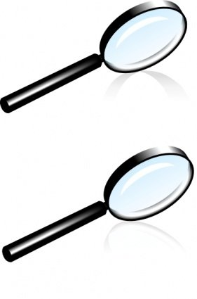 281x425 Magnifying Glass Lens, Vector