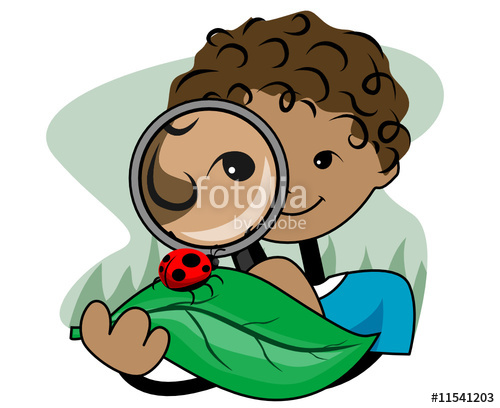 500x408 Boy With Magnifying Glass Clipart