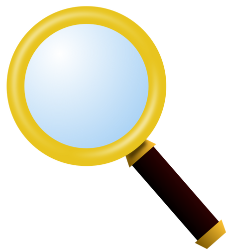 454x500 Clip Art Of Gold Plated Magnifying Glass Public Domain Vectors