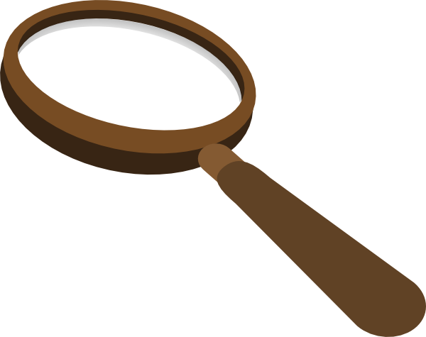 600x475 Magnifying Glass Brown Clip Art
