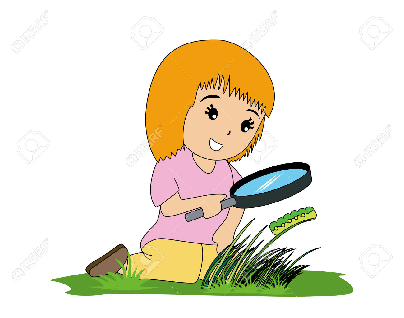 1300x1024 Girl With Magnifying Glass Clipart