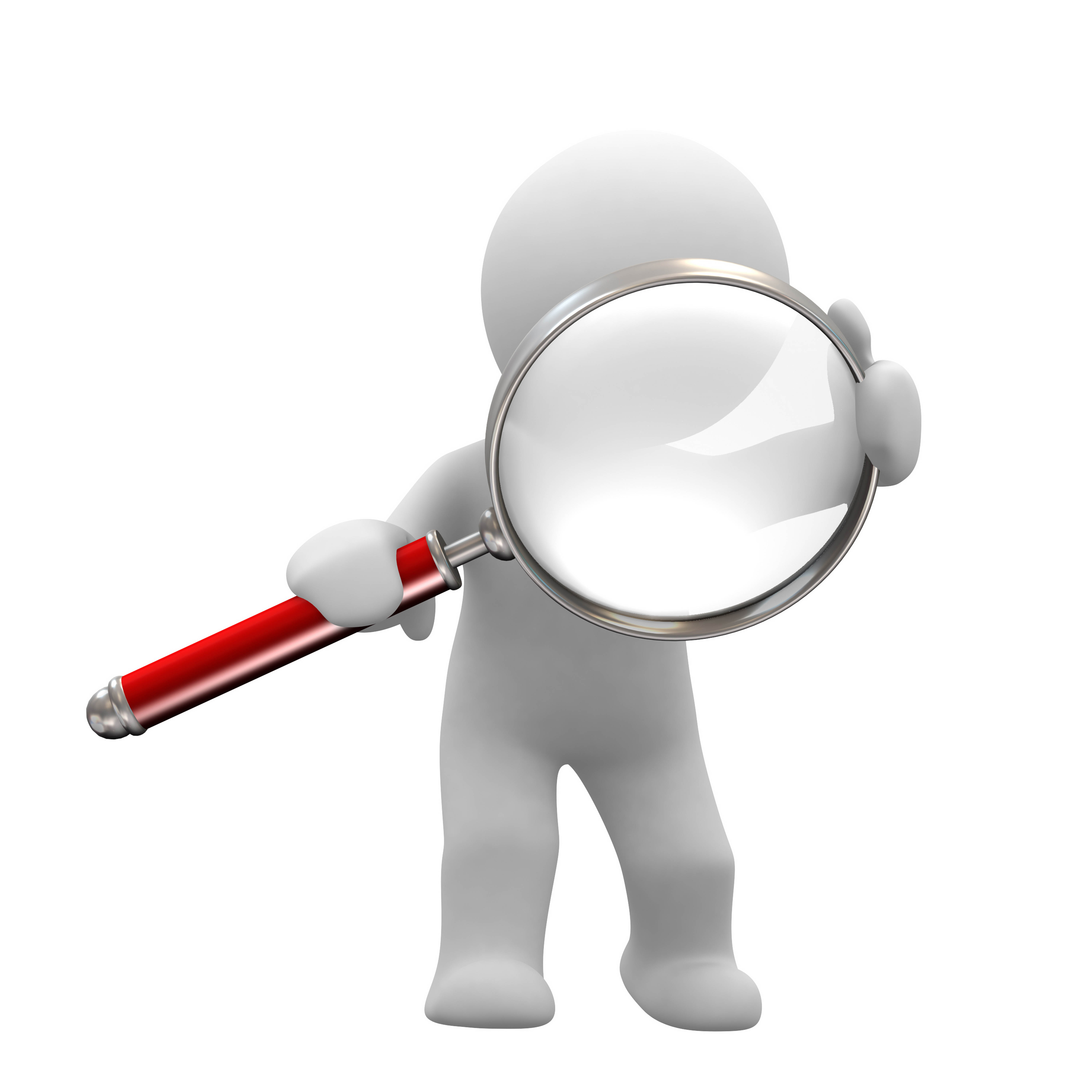 6000x6000 Man With Magnifying Glass Clipart