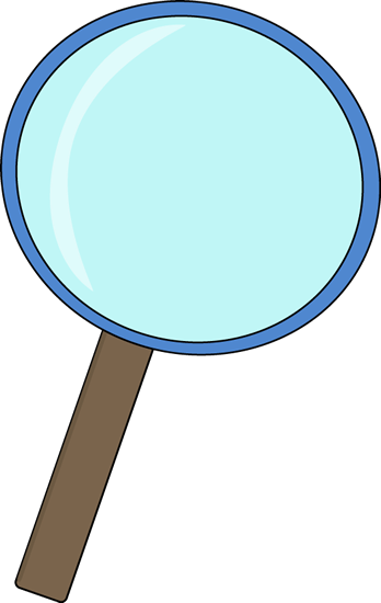 348x550 Blue Magnifying Glass Clip Art