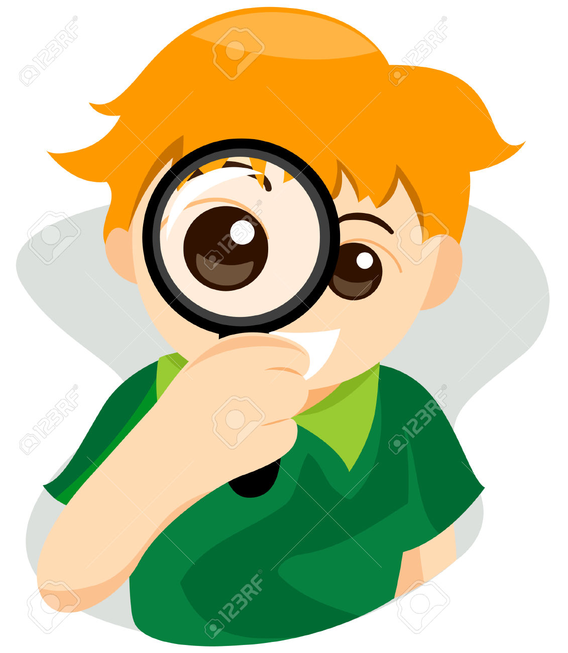 1131x1300 Boy With Magnifying Glass Clipart