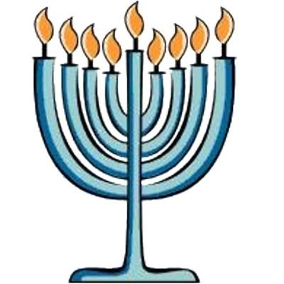400x400 Clip Art Happy Hanukkah Word With Menorah Image 2