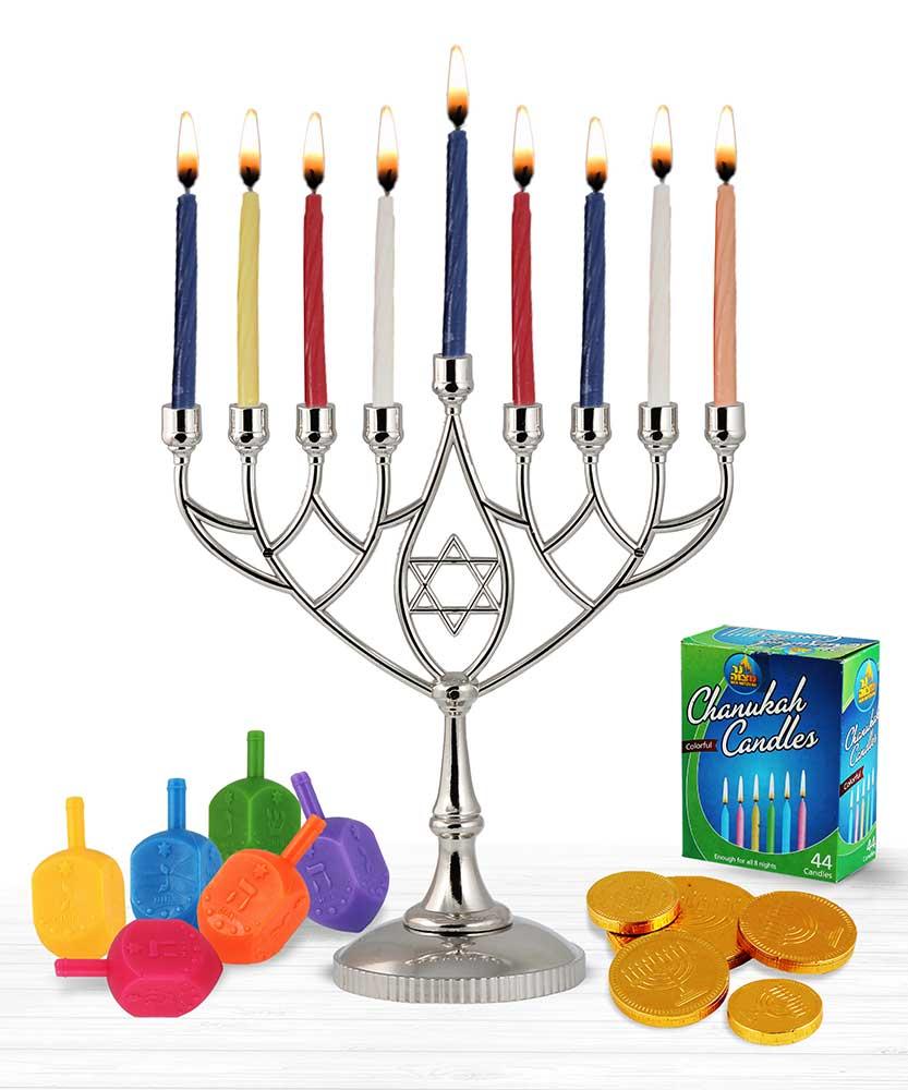 833x1000 Hanukkah Menorah And Dredeils Chocolate Candles Kit