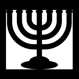 263x262 Menorah Silhouette Judentum Menorah, Silhouettes