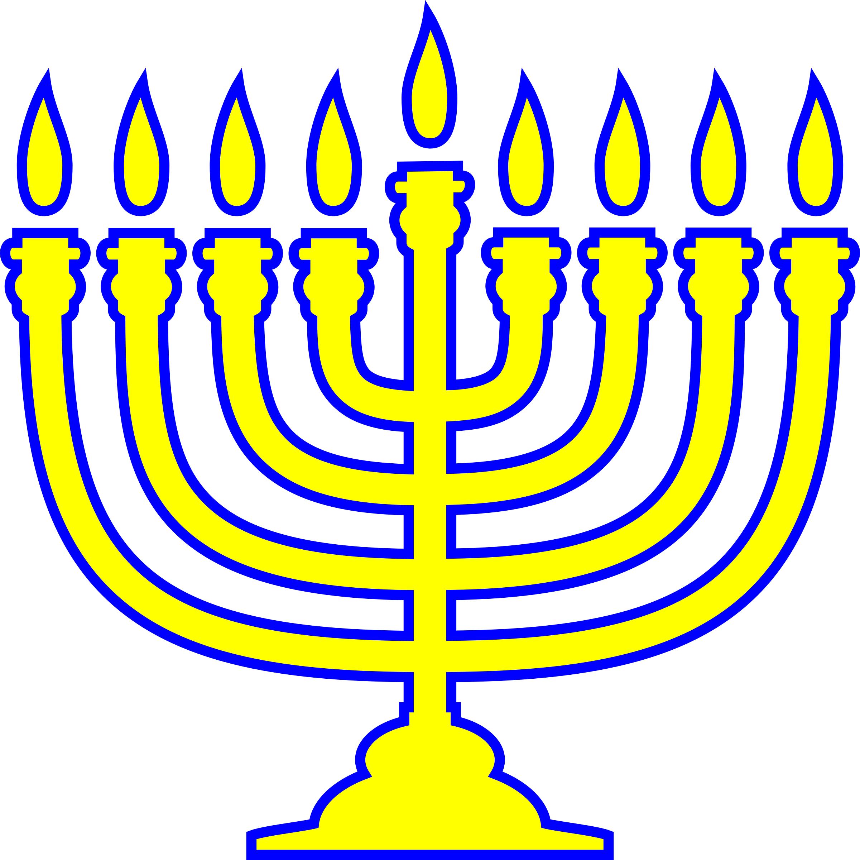 2401x2400 Clip Art Happy Hanukkah Word With Menorah Image