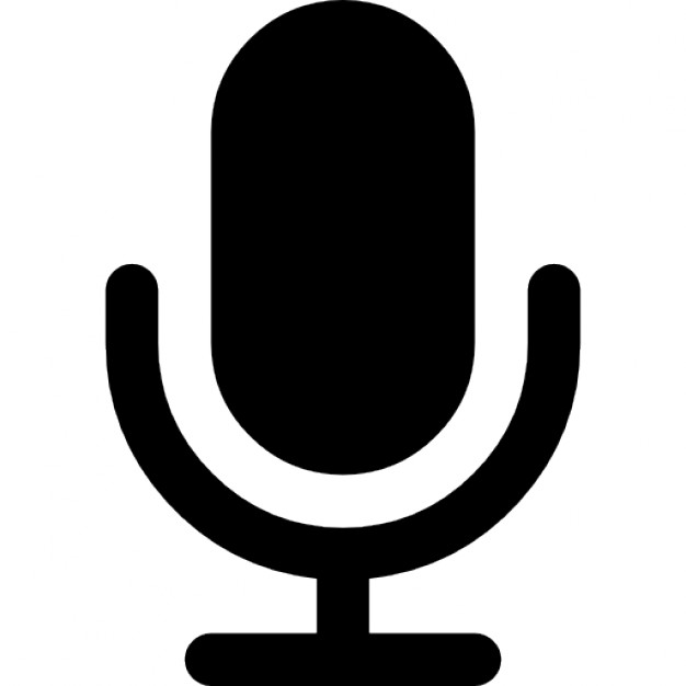 626x626 Microphone Black Shape Icons Free Download