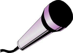300x219 Pink Microphone Clipart