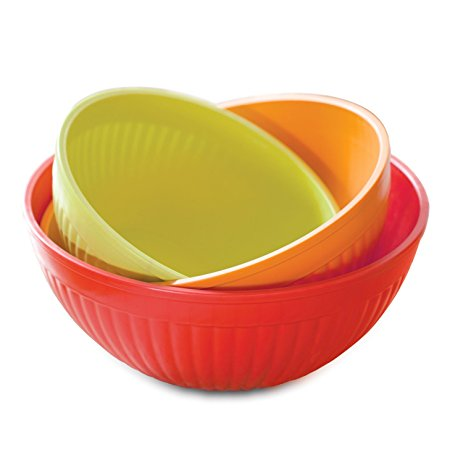 463x463 Nordic Ware Prep And Serve Mixing Bowl Set, 3 Piece