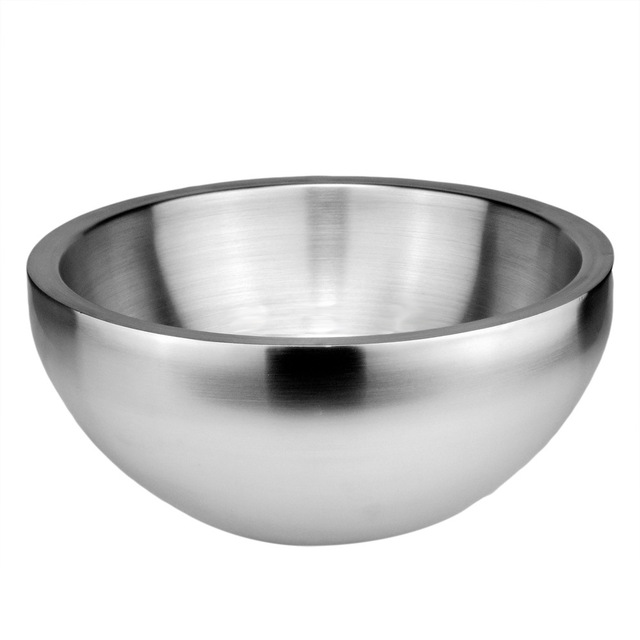 640x640 Sky Fish Double Layer 188 Stainless Steel Salad Bowls Fruit Bowl