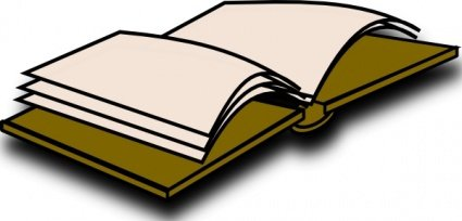 425x204 Open Book Blank Clip Art, Vector Open Book Blank