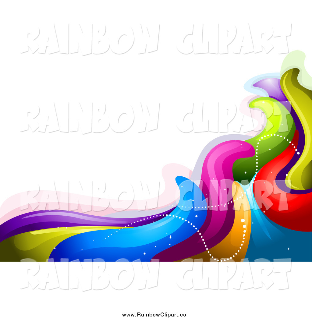 1024x1044 Vector Clip Art Of A Background Of Rainbow Waves By Bnp Design