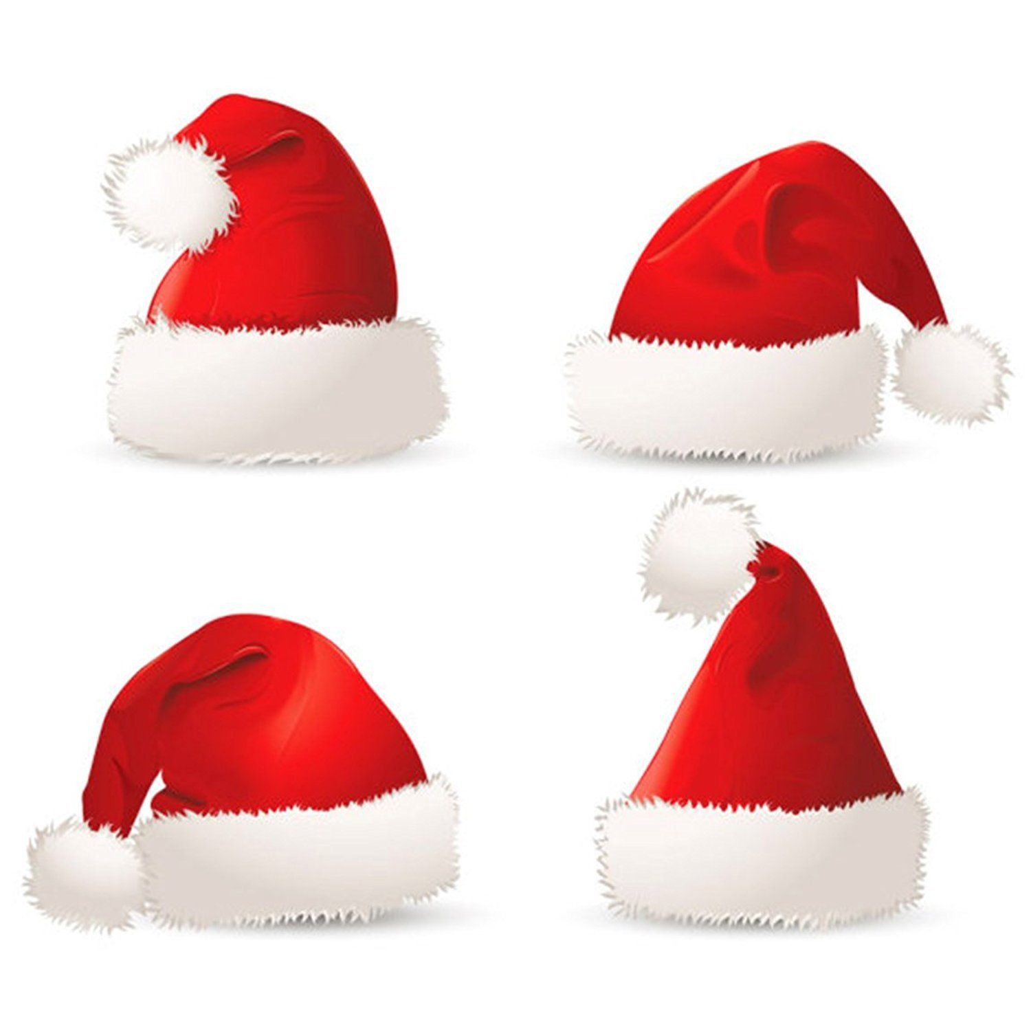 1500x1500 3pc Plush Santa Hat Festive Holiday Christmas Costume Party Wear
