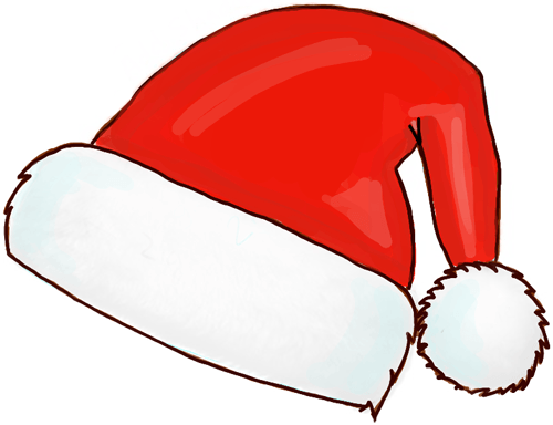 500x384 Santa Claus Hat Template Clothing Santa Hat Clip Art
