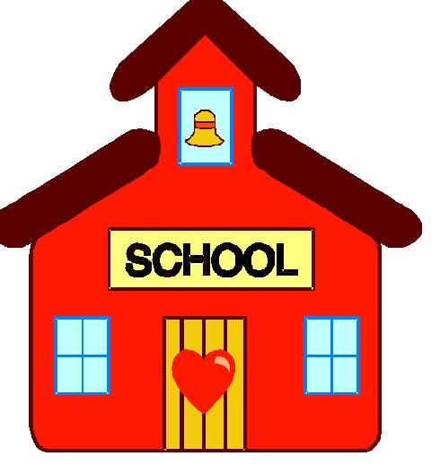 490x528 Free Schoolhouse Clipart Image