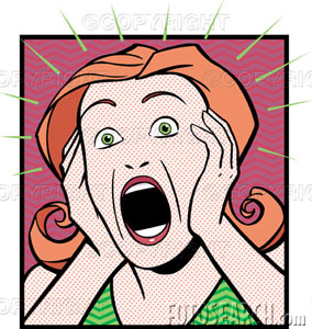 284x300 Horror Clipart Shocked Face