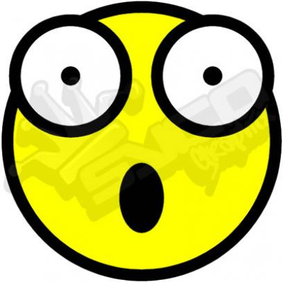 408x407 Shocked Emoticon Clipart