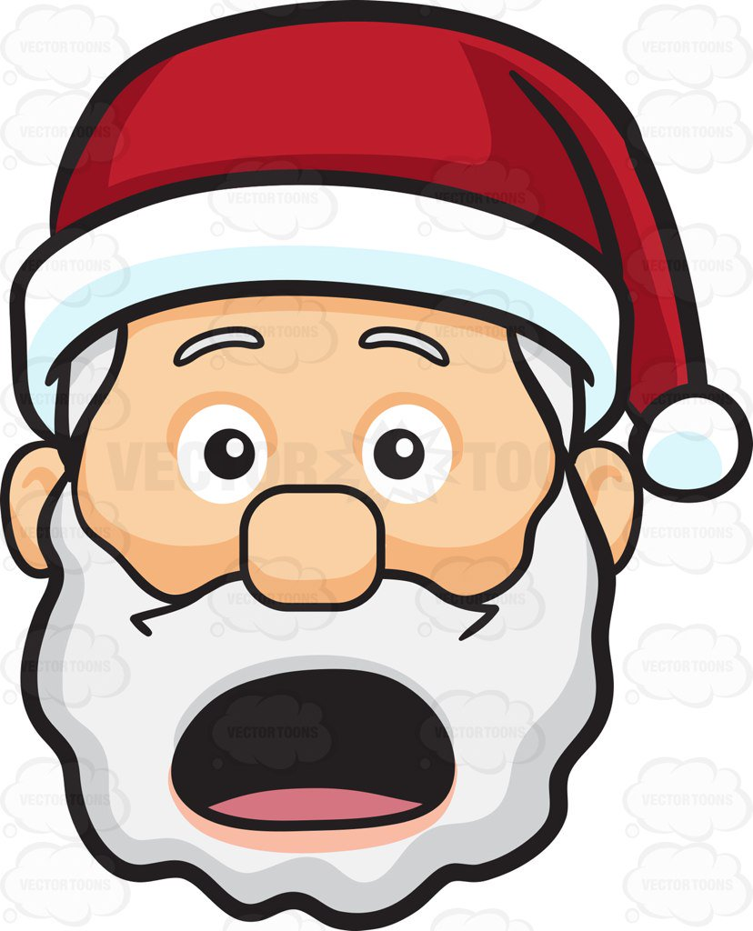 828x1024 A Shocked And Aghast Face Of Santa Claus Cartoon Clipart