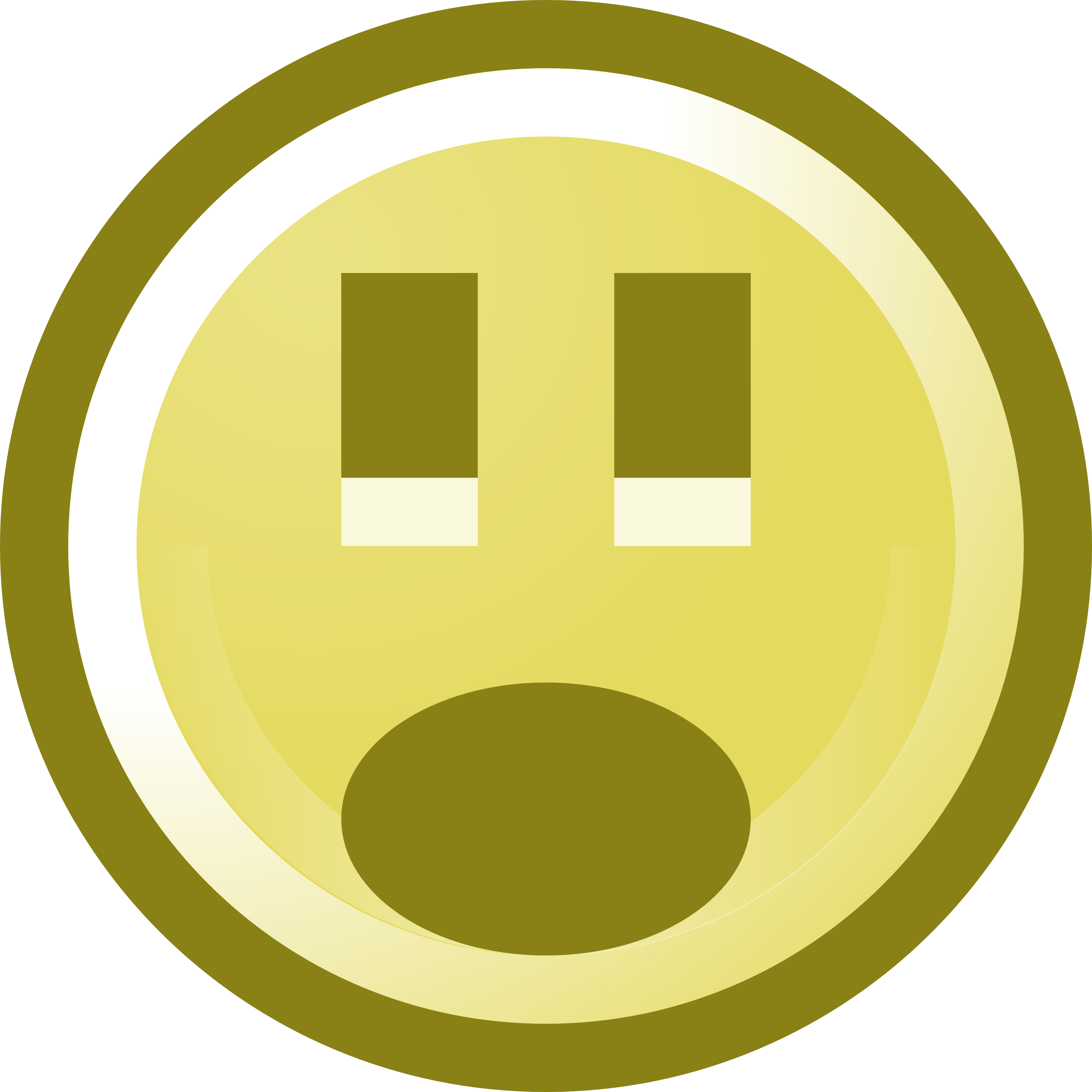 3200x3200 Shocked Smiley Face Clip Art Illustration