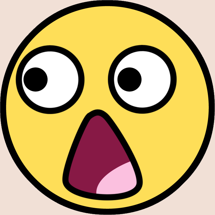 714x714 Shocking clipart stunned face