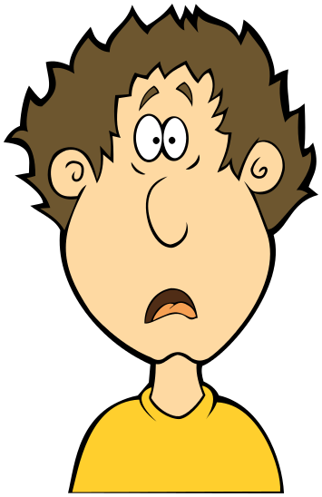 355x548 Shocking Clipart Surprised Person