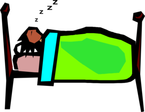297x231 Person Sleeping Clip Art