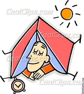 268x300 Person Sleeping In A Tent Vector Clip Art