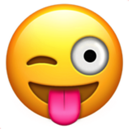 256x256 Face With Stuck Out Tongue And Winking Eye Emoji U 1f61c