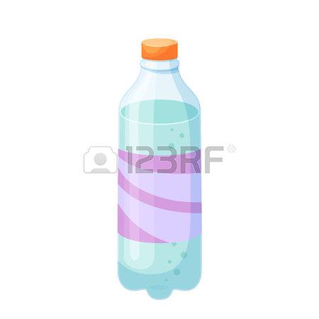 450x450 Soda Bottle. Drinks And Soda Plastic Bottle Vector Illustration