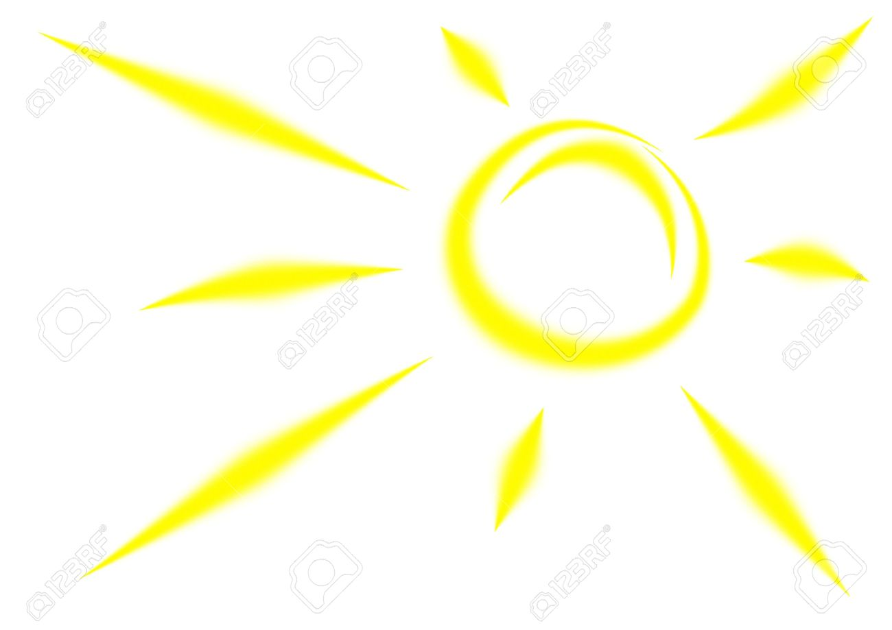 Sun rays cartoon. Picture of free download