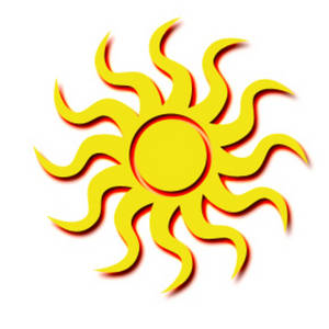 300x300 Graphic Art Sun Sun. This Is An Image Of A Yellow Sun,
