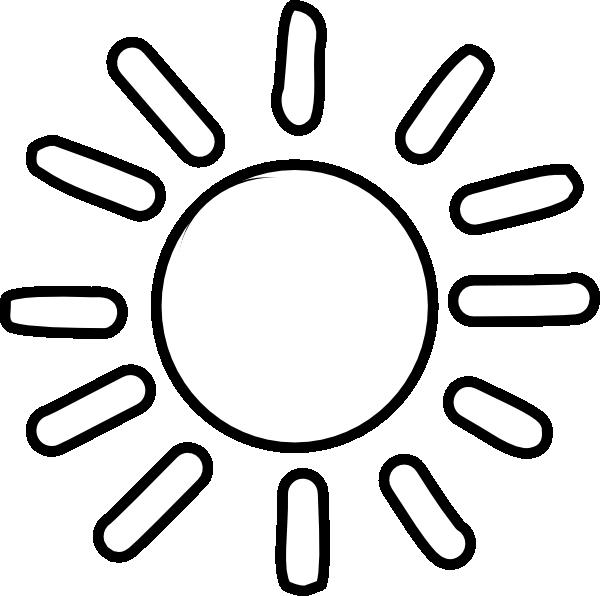 600x596 Sun Outline Clip Art