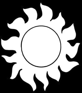 264x297 Sunshine Clipart Outline