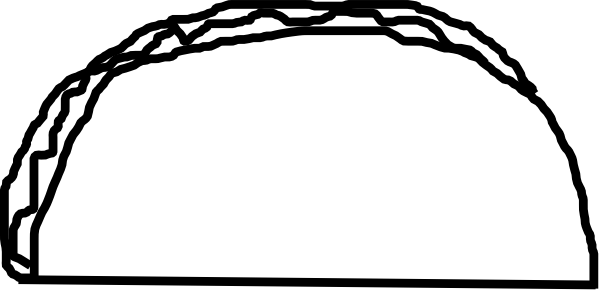 600x293 Taco Black N White Clip Art