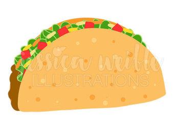 340x270 Taco Clipart Etsy