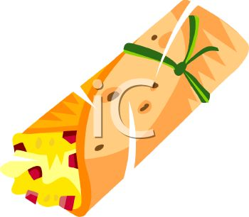 350x306 Breakfast Taco Clipart