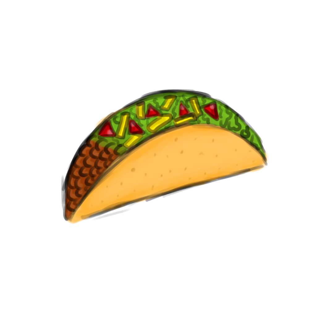 1000x1000 Taco Clipart Transparent Background