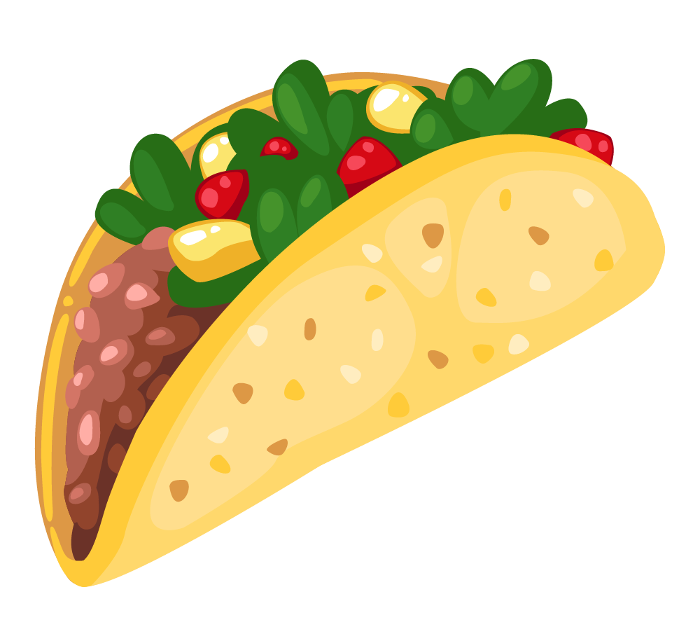 1000x885 Cartoon Taco Clip Art 3 Clipartcow