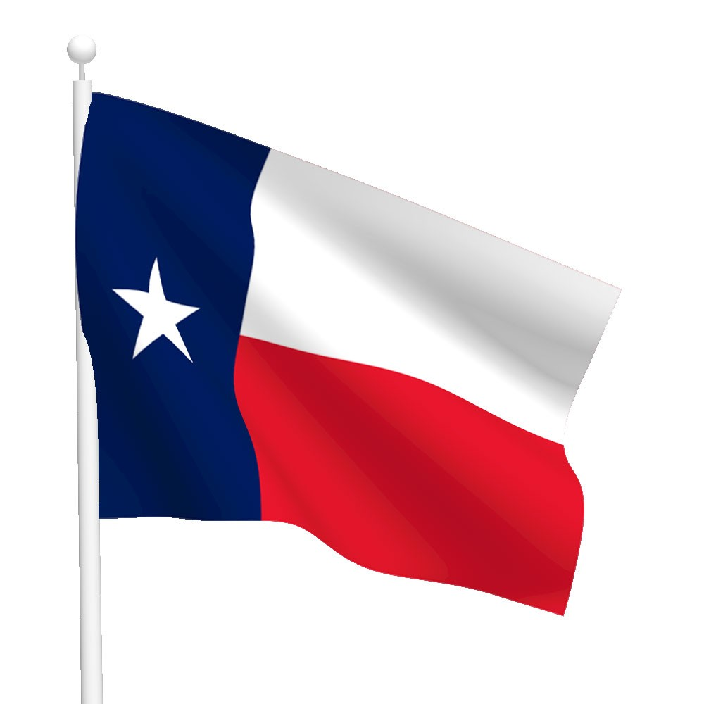 1000x1000 Texas Flag Clipart