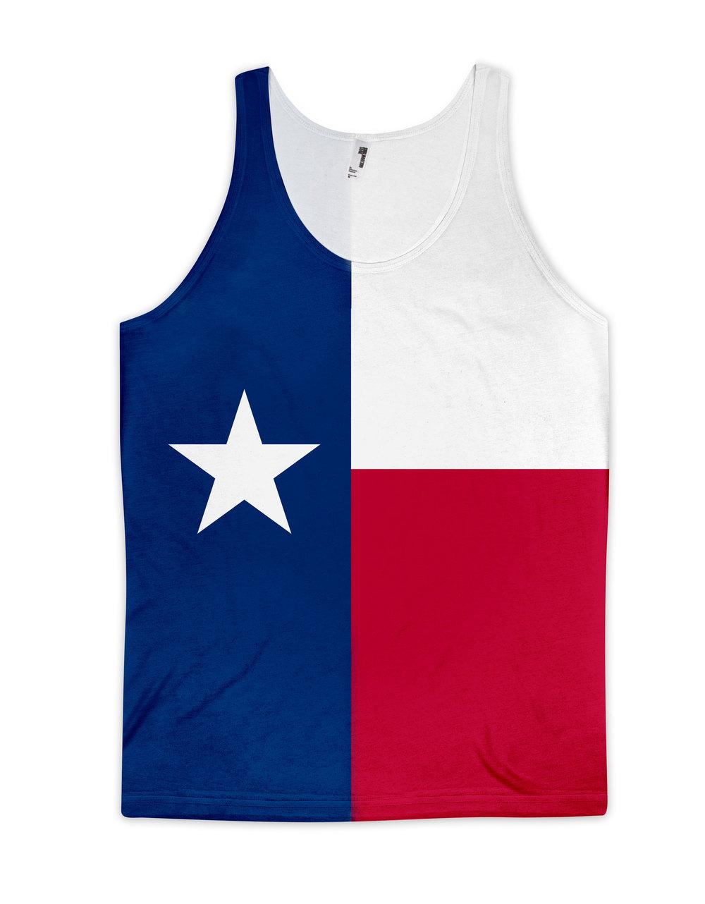 1000x1282 Texas Flag Tank Top (Unisex) All 50 Flags