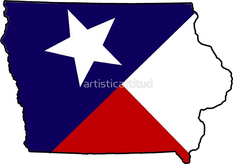 800x563 Texas Flag Iowa Outline Stickers By Artisticattitud Redbubble