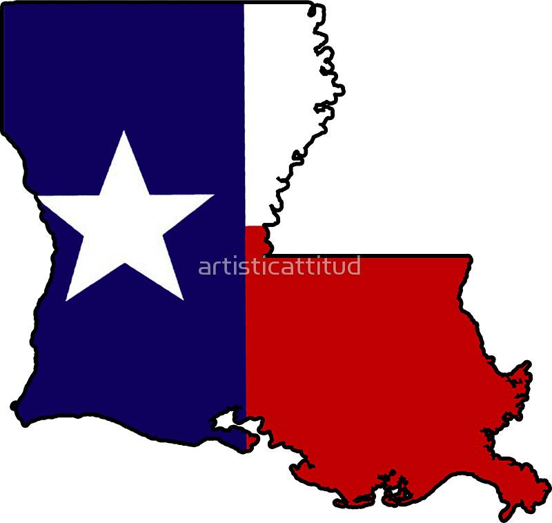 800x758 Texas Flag Louisiana Outline Stickers By Artisticattitud Redbubble