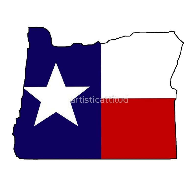 800x800 Texas Flag Oregon Outline Art Prints By Artisticattitud Redbubble