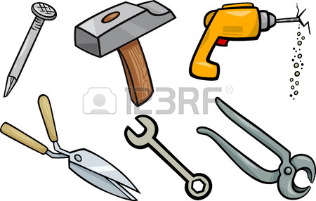 450x286 Cartoon Illustration Of Smith Hammer Tool And Anvil With Red