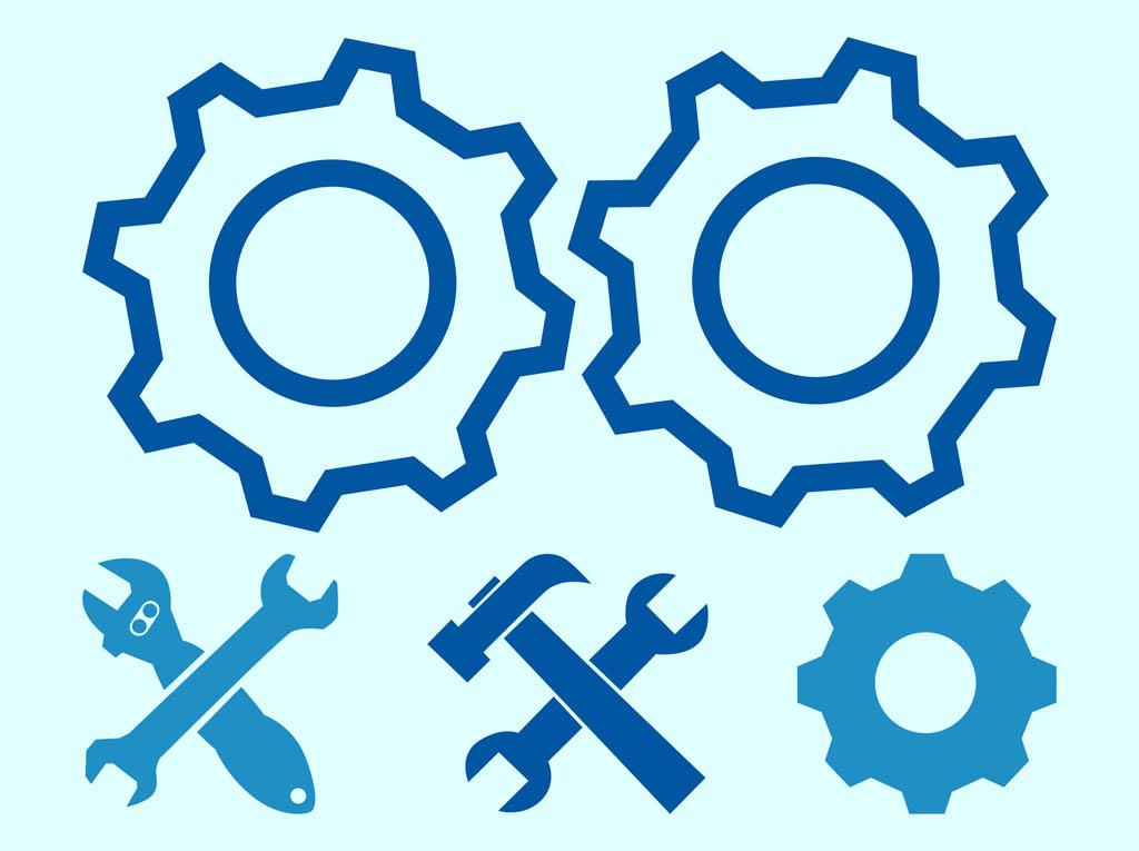 1024x765 Gearwheels And Tools Vector Art Amp Graphics