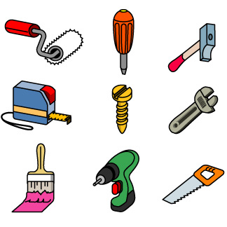 324x324 Graphic Of Tools Clipart