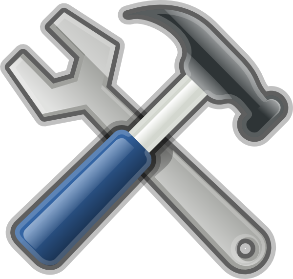 600x571 Andy Tools Hammer Spanner Clip Art